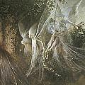 Fairies Looking through a Gothic Arch Print by John Anster Fitzgerald