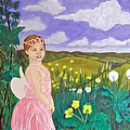 Fairy at the Bottom of my Garden Print by Peter Edward Green