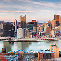 Fall in Pittsburgh  Print by Emmanuel Panagiotakis