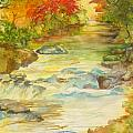 Fall on East Fork River Print by Kris Dixon