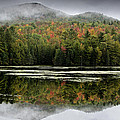 Fall Reflections in the Adirondack Mountains Poster by Brendan Reals
