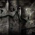 Fantasy - Haunted - It was a dark and stormy night Print by Mike Savad