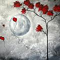 Far Side of the Moon by MADART Print by Megan Duncanson