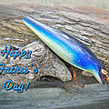 Fathers Day Greeting Card - Vintage Floyd Roman Nike Fishing Lure Print by Mother Nature