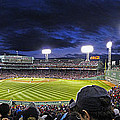 Fenway Night Print by Rick Berk