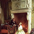Figures in an Interior  Poster by Ary Johannes Lamme