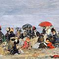 Figures on a Beach by Eugene Louis Boudin