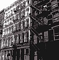 Fire Escapes BW3 Print by Scott Kelley
