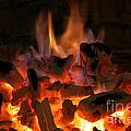 Fireplace Flames Poster by Francisco Leitao