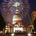 Fireworks at the Arch 1 Print by Marty Koch