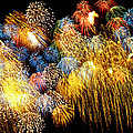 Fireworks Exploding  Print by Garry Gay