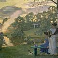 Fireworks Print by Konstantin Andreevic Somov