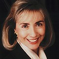 First Lady Hillary Clinton In A 1992 Print by Everett