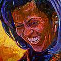 First Lady Michele Obama Print by David Lloyd Glover