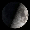 First Quarter Moon Print by Stocktrek Images