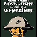 First To Fight US Marines Print by War Is Hell Store