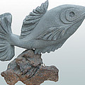 Fish Sculpture Poster by Hwaida Bouhamdan
