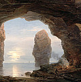 Fisherman in a Grotto Helgoland Print by Christian Ernst Bernhard Morgenstern