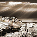 fishing boat graveyard 9 Poster by Meirion Matthias