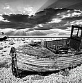 fishing boat graveyard Poster by Meirion Matthias