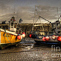 Fishing boats on the cobb Poster by Rob Hawkins