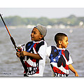 Fishing Brothers Poster by Brian Wallace