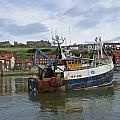 Fishing Trawler WY 485 at Whitby Print by Rod Johnson