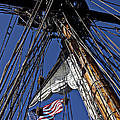 Flag In The Rigging Print by Garry Gay