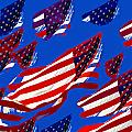 Flags American Poster by David Lee Thompson