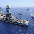 Flaring Operations Conducted Print by Stocktrek Images