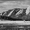 Flatirons from Chautauqua Park BW Print by James BO  Insogna