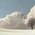 Flock Of Starlings Flying Print by Image by J. Parsons