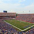 Florida  Ben Hill Griffin Stadium on Game Day Print by Getty Images