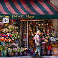 Flower Shop - NY - Chelsea - Hudson Flower Shop  Poster by Mike Savad