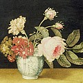 Flowers in a Delft Jar  Print by Alexander Marshal