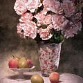 Flowers With Fruit Still Life Poster by Tom Mc Nemar