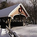 Flume Covered Bridge - Lincoln New Hampshire USA Poster by Erin Paul Donovan