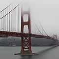 Fog At The San Francisco Golden Gate Bridge - 5D18869 Print by Wingsdomain Art and Photography