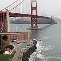 Fog At The San Francisco Golden Gate Bridge - 5D18872 Print by Wingsdomain Art and Photography