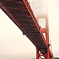 Fog lifting at the Golden Gate Poster by Cheryl Young