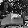 Folk Singer Joan Baez Singing Poster by Everett