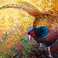 Foraging Pheasant Print by Marion Rose