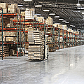 Forklift Moving Product in a Warehouse Poster by Jetta Productions, Inc