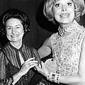 Former First Lady Visits Carol Channing Print by Everett