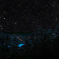 Fort Collins Colorado at Night Print by Ric Soulen