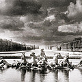 Fountain with Sea Gods at the Palace of Versailles in Paris Print by Simon Marsden