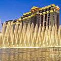 Fountains of Bellagio in front of Caesar's Palace Hotel and Casi Print by Andre Babiak