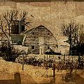 Fragmented Barn  Poster by Julie Hamilton