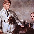 Frederick Banting And Charles Best Print by Everett