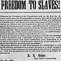 Freedom To Slaves Print by Photo Researchers